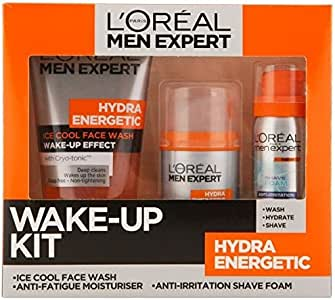 L Oreal Men Expert Hydra Energetic crema hidratante de Cara lavar/afeitado Espuma/Kit: Amazon.es: Belleza