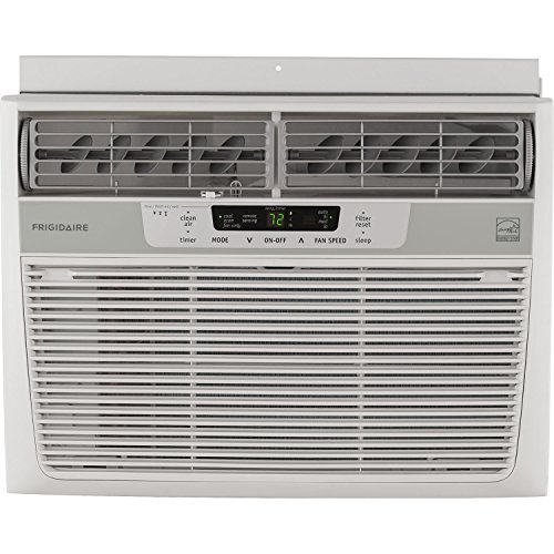 - Frigidaire 10,000 BTU 115V Window-Mounted Compact Air Conditioner with Temperature Sensing Remote Control