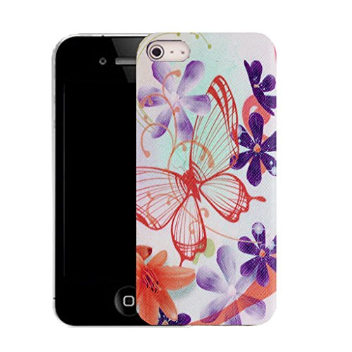 Mobile Case Mate IPhone 5 clip on Silicone Coque couverture case cover Pare-chocs + STYLET - jumble butterfliy pattern (SILICON)