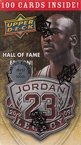 - Michael Jordan Hall of Fame Factory Sealed Box Set-100 Cards including Awesome 1986 Fleer Rookie Reprint Card! Box is Limited Edition and Numbered! Contains 100 Michael Jordan Cards in MINT Condition Celebrating his HOF Career!