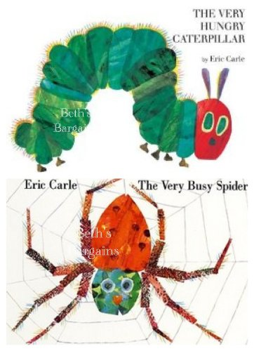 2 Books: Eric Carle Set - The Very Busy Caterpillar + The Very Busy Spider (Eric Carle Series Set Collection)