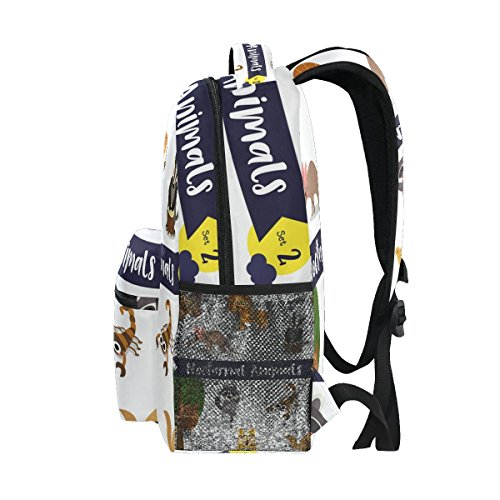 Girls Pack for School Backpack Owl Women Day Ahomy Ideal Lion Coyote Bag Hamster Moth Shoulder Scorpion Rucksack Aardvark Travel Boys g1xqH7xw