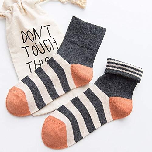 XINGRUI Caramelo del calcetín algodón Colores a Rayas Ocasionales ...