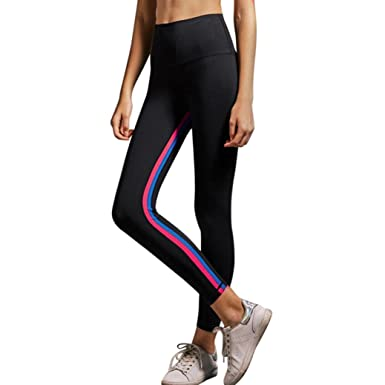 67c07609c367 HOMEBABY Women High Waist Athletic Yoga Plants