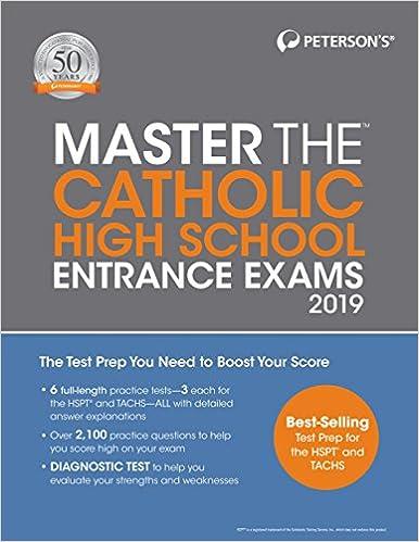 Best Catholic Books 2019 Amazon.com: Master the Catholic High School Entrance Exams 2019
