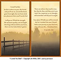 """Pet Lover Remembrance Gift, """"I Loved You Best"""" , Memorial Pet Loss Picture Frame and Sympathy Gift Package, Rich Dark Brown with Foil Accent"""