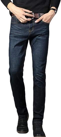 Pipigo Pantalones De Mezclilla Para Hombre Business Straight Leg Stretch Denim Jeans Pantalones Amazon Com Mx Ropa Zapatos Y Accesorios