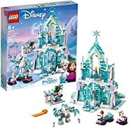 LEGO Disney Princess Elsa's Magical Ice Palace 43172 Toy Castle Building Kit with Mini Dolls, Castle Plays