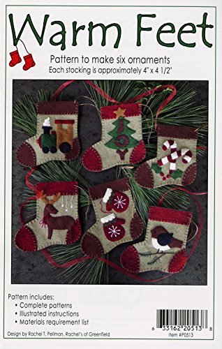 UPC 633162205138, Warm Feet Christmas Ornament Felt Applique Pattern, Six (6) Ornament Designs