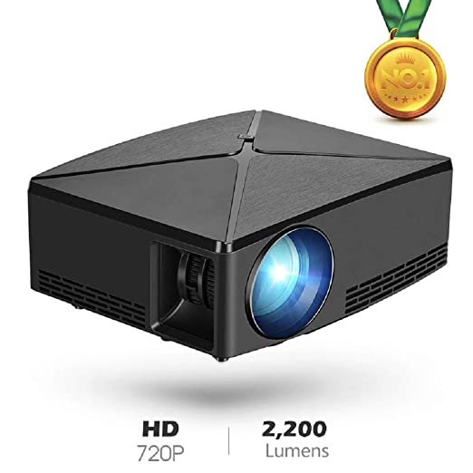 WOLJW Proyector 3000 lúmenes Proyector de Video HD LCD Soporte ...