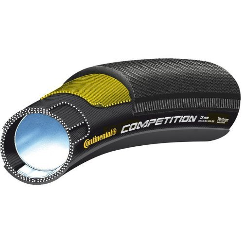 Continental Competition Tubular Road Bicycle Tire with Black Chili (26x19, Tubular, Black)