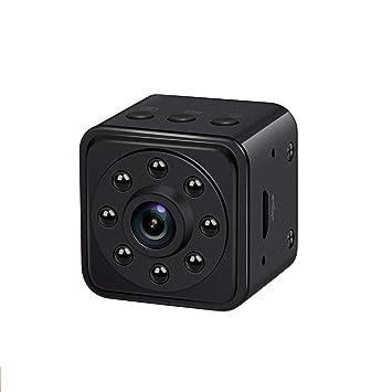 FRUZAZ HD 1080P Mini Cámara El Spy Lleva Una Visión Nocturna Cámara De Detección De Movimiento 8-128GB Externa TF Tarjeta USB De Carga Cámara Cuadrada: ...