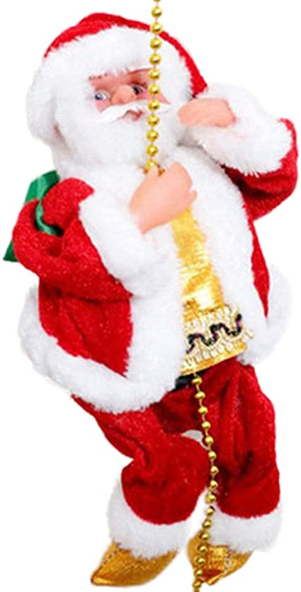 Greyghost Decoración colgante de Navidad Papá Noel Escalera ...