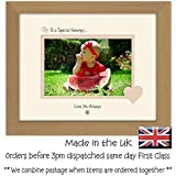 Special Grampy Personalised Love You Always Photo Frame Double Mounted Quality Gift (Oak Finish Frame Cream Mount Beige Inside) by Photos in a Word