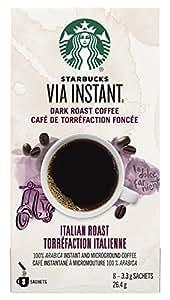 Starbucks Via Instant Italian Roast Dark Roast Coffee, 8 Count