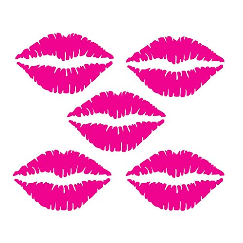 Iusun Wall Stickers 5PCS Sexy Lips Fridge Pattern Window Wall Removable Art -