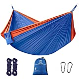 Z ZANMAX Double Camping Hammock, 300 x 200 cm Large Outdoor Portable Hammock Lightweight Nylon Hammock with Tree Straps for Backpacking, Camping, Hiking, Garden, Beach
