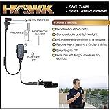 HAWK Police Lapel Mic QR Earpiece for Vertex Standard VX-600 VX-800 VX-900