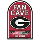 NCAA University of Georgia 95779011 Wood Sign, 11'' x 17'', Black