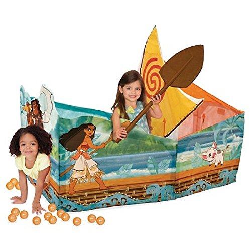 Playhut Tent Ball Pit Disney Moana Adventure Canoe