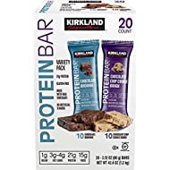 Kirkland Signature Protein bar energy variety pack, 20 Count