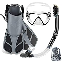 ZEEPORTE Mask Fin Snorkel Set with Snorkeling Gear Adult The ZEEPORTE snorkeling set is ideal for any recreational snorkeler. Equipped with the snorkeling fins with lightweight and compact short blade, better fit soft dive mask and adjustable...