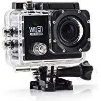 RioRand Waterproof Wifi RS6000 Helmet Ultra-portable Wifi Sports Camera 1080P WVGA, Full HD H.264 Car Recorder Diving Bicycle Action Camera 2.0 Inch LCD 170 Wide Angle Lens Outdoor Waterproof HD VCR/CAR DVR/Camera Motorbike Camcorder DVR - Black