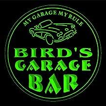 4x ccpp1972-g BIRD'S Garage Basement Bar Beer 3D Coasters