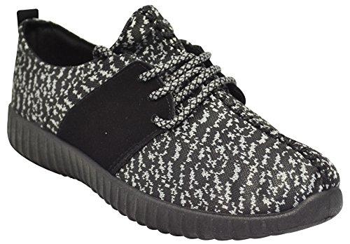 Bambu Tilt-01s Kvinna Sticka Sneakers Svart