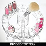 mDesign Spinning 2-Tier Lazy Susan Makeup Turntable