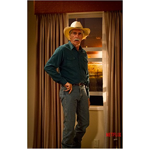 Sam Elliott 8 Inch x 10 Inch Photograph The Ranch (TV Series 2016 - ) Standing in Front of Window kn