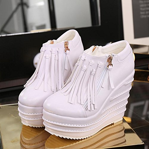 e Outdoor alto Ufficio Comfort Heel carriera Scarpe brevi Pattini LvYuan flatform Stivaletti white casual pfZFqq