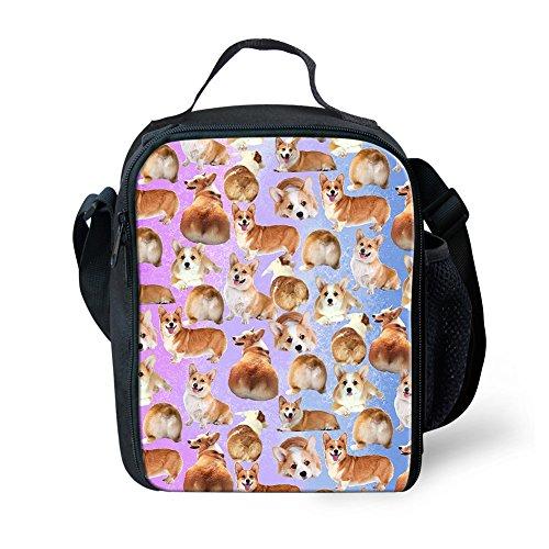 Showudesigns - Bolsa de Almuerzo Portátil para Niños con Diseño de Animales de zoológico, poliéster, Pug Dog 1, Small Dog 3