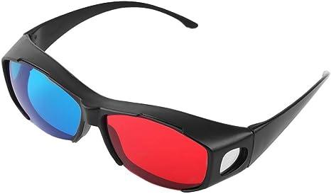 Gafas 3D, Universal Tipo Gafas 3D TV Movie Dimensional Marco anaglifo vídeo 3D Vision Lentes de DVD Juego de Cristal Color Rojo y Azul: Amazon.es: Deportes y aire libre