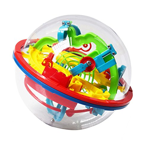 Intellect 3D UFO Maze Ball Labyrinth Globe Toys 100 Challenging Barriers Puzzle Toy Space Training Imagination Education Toy for Children 6-18 Years ()