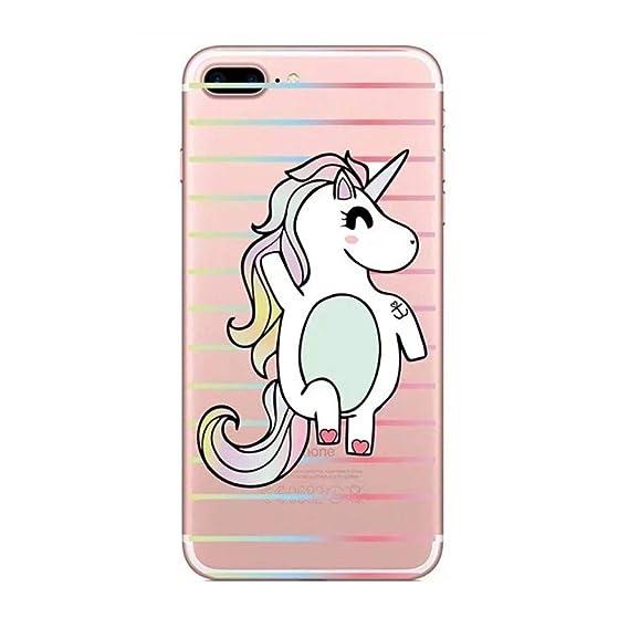 Linda funda de silicona unicornio rosa para funda de iphone X XR
