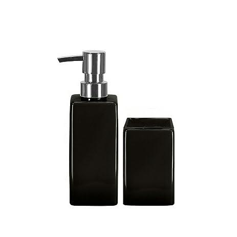 Amazon.com: Luxury Porcelain Bathroom Accessories Set - 2 Pieces ...