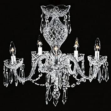 Amazon waterford crystal comeragh chandelier 5 arm kitchen waterford crystal comeragh chandelier 5 arm aloadofball Images