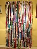 Multi Color Hippie Curtains (Gypsy, Hippie, Hippy, Boho, Beach, Shabby, Shower Curtain, Photo BackDrop)