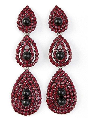 Color Drop Earrings (Vijiv Gatsby Earrings Vintage 1920s Drop Chandelier Flapper Jewelry Accessories)