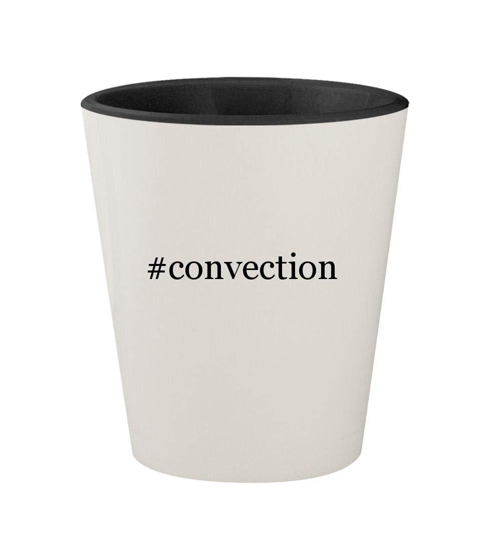 #convection - Ceramic Hashtag White Outer & Black Inner 1.5oz Shot Glass