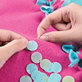 Make It Real - Knot and Bling Mermaid Tail Blanket. Educational DIY Arts and Crafts Kit Guides Kids to Create a Knotted Fleece and Sequin Mermaid Tail Wearable Blanket