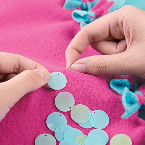 Make It Real – Knot & Bling Mermaid Tail Blanket. Educational DIY Arts and Crafts Kit Guides Kids to Create a Knotted…