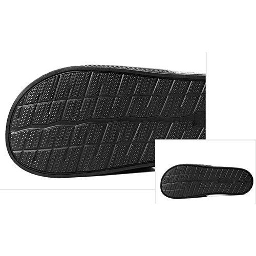 XIAOLIN Zapatillas para hombres ocasionales Zapatillas para exteriores antideslizantes de verano Use sandalias y zapatillas Zapatos de playa Ola coreana (dos colores para elegir) (Tamaño opcional) ( C 02