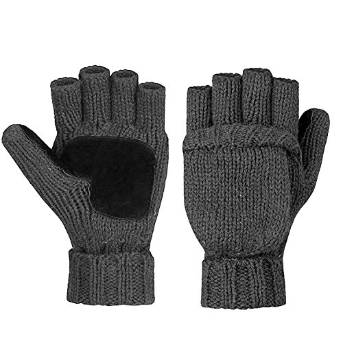 Metog Warm Winter Gloves Wool Mittens Gray