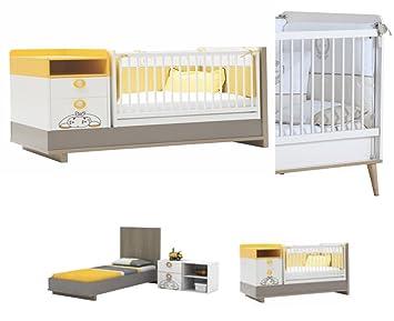 Kinderbett mitwachsend  BABY BETT GITTERBETT MIT WICKELKOMMODE ZUZO / DAS MITWACHSENDE ...