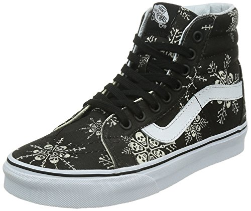 5df8f08e08 Galleon - Vans Unisex SK8-Hi Reissue (Van Doren) Skate Shoes-Skull Snowflake  Black-12-Women 10.5-Men