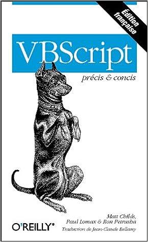 VBScript Pr Cis Concis Childs 9782841771523 Books