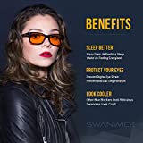 "Blue Light Blocking Glasses - FDA Registered Gamer Glasses and Computer Eyewear for Deep Sleep - Digital Eye Strain Prevention - (Regular) - Bonus Book ""7 Ways To Sleep Better"""