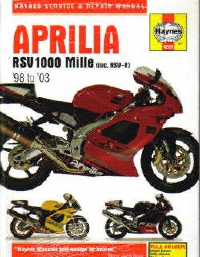 (H4255 Aprilia RSV1000 Mille RSV-R 1998-2003 Haynes Motorcycle Repair Manual)